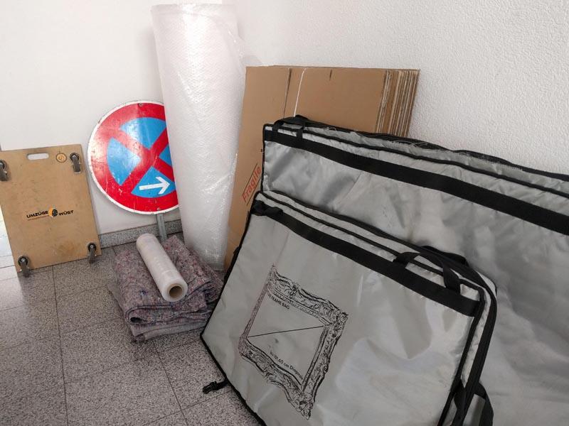 Vorbereitung für einen Fernumzug nach Frankfurt am Main
